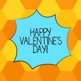 De handschrifttekst Gelukkig Valentine S is Dag Conceptenbetekenis wanneer de minnaars hun affectie met groeten Lege Kleur uitdru vector illustratie