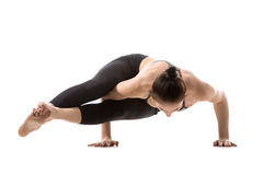 De handstand, Astavakrasana stelt Stock Foto