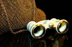 De handtas en het opera-glas van het theater Royalty-vrije Stock Foto