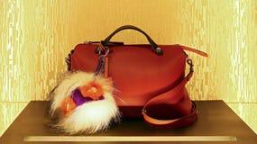 De handtas van het damesleer Stock Afbeelding