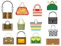 De handtassen van het leer Royalty-vrije Stock Foto