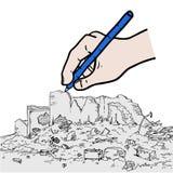 De handtekening van de ruïnesstraat vector illustratie