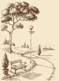 De handtekening van het stadspark stock illustratie