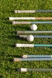 De Handvatten en de Ballen van de Stok van de lacrosse stock afbeeldingen