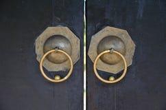De handvatten van de deur Stock Afbeeldingen