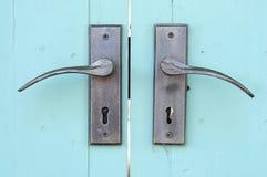 De handvatten van de deur Stock Foto's