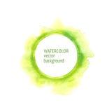 De handverf van de waterverfcirkel op witte achtergrond Royalty-vrije Stock Fotografie