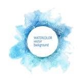 De handverf van de waterverfcirkel op witte achtergrond Royalty-vrije Stock Foto