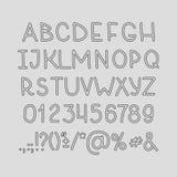 De handwritting abc vectordoopvont van het hand drawin alfabet Royalty-vrije Stock Afbeelding