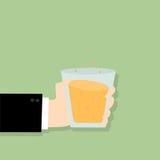 De handzaken met glas worden ingediend hebben velen idee gloeilamp die stock illustratie