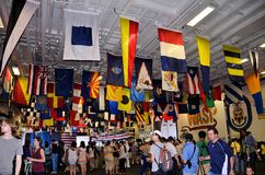 De Hangaar van de Wesp USS Stock Afbeelding