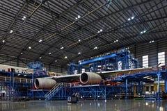 De Hangaar van vliegtuigen Stock Afbeelding