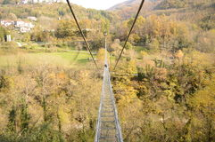 De hangbrug Stock Foto's