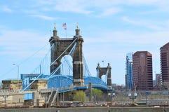 De hangbrug van Cincinnati stock fotografie