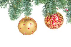 De hangende bal van Kerstmis Stock Foto's