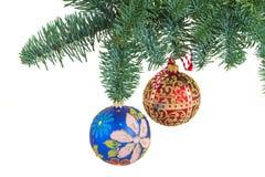 De hangende bal van Kerstmis Stock Fotografie