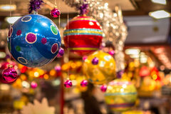 De hangende ballen van Kerstmis Royalty-vrije Stock Afbeelding