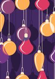 De hangende ballen van Kerstmis naadloos Vector Royalty-vrije Stock Afbeeldingen