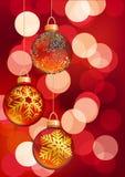 De hangende ballen van Kerstmis Vector illustratie Royalty-vrije Stock Afbeeldingen