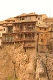 Hangende huizen in Cuenca Royalty-vrije Stock Afbeelding