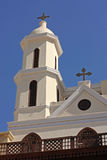 De hangende Kerk Gr Muallaqa in Kaïro. Royalty-vrije Stock Foto