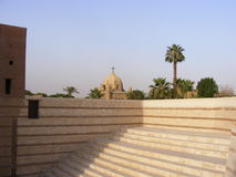 De hangende kerk ruïneert oude historische christen in oud Kaïro Grieks oud Kaïro Egypte Stock Afbeelding