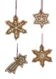 De hangende Sneeuwvlokken van Kerstmiskoekjes Royalty-vrije Stock Afbeelding