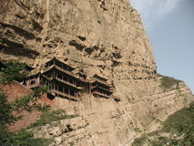 De Hangende Tempel van Shanxi Stock Foto