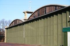 De Hangers van vliegtuigen - Oorlog van de Wereld 2 Stock Afbeelding