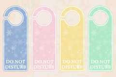 De hangerspastelkleur van de deur Stock Afbeeldingen