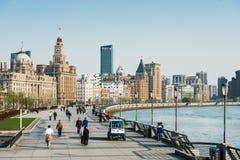 De hangpurivier Shanghai China van de dijkwaterkant Royalty-vrije Stock Afbeeldingen