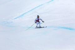 De Hannes Reichelt campeonato do mundo Bormio 2013 de Fis do lugar em segundo Fotos de Stock