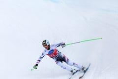 De Hannes Reichelt campeonato do mundo Bormio 2013 de Fis do lugar em segundo Foto de Stock