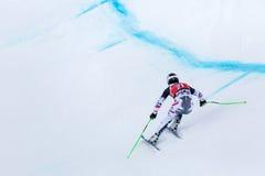 De Hannes Reichelt campeonato do mundo Bormio 2013 de Fis do lugar em segundo Fotografia de Stock