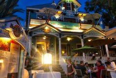De Harde Rotskoffie van Key West - nacht Stock Afbeelding