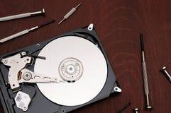 De harde schijf van de computer Harde aandrijvingsreparatie stock foto