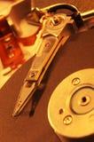 De harde schijfaandrijving van de computer Stock Foto