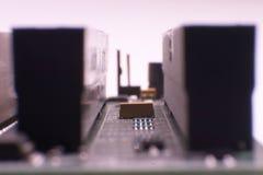 De hardware van de computer - motherboard stock afbeelding