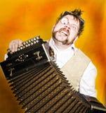 De harmonikaspeler van Steampunk Royalty-vrije Stock Foto's