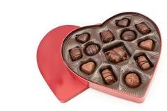 De hart Gevormde Doos van Valentijnskaarten Stock Afbeelding