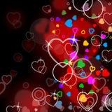 De hartachtergrond wijst Achtergrond op Affectie en Hartstocht vector illustratie