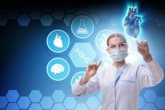 De hartbehandeling in telegeneeskundeconcept stock afbeeldingen