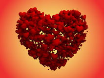 De harten die van de steen een groot Hart (het knippen weg) vormen Royalty-vrije Stock Foto