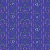 De harten naadloos patroon van bloemen Royalty-vrije Stock Fotografie