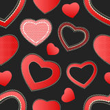 De harten naadloos patroon van de valentijnskaart Royalty-vrije Stock Afbeelding