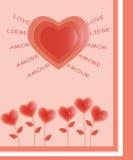 De harten van bloemen Stock Afbeeldingen