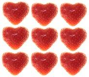 De harten van de aardbei Royalty-vrije Stock Fotografie