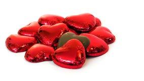 De Harten van de chocolade Royalty-vrije Stock Foto