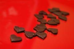 De harten van de chocolade Stock Afbeelding