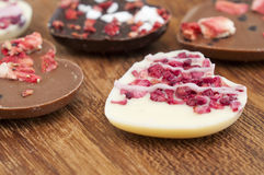 De Harten van de Chocolade van de valentijnskaart Stock Foto